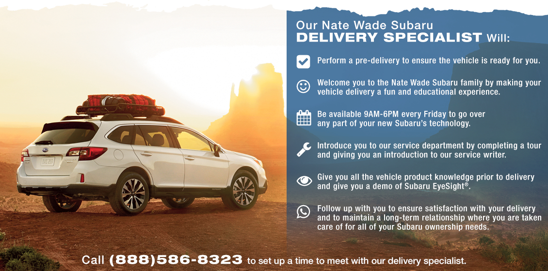 Our Subaru Delivery Specialist Will Help You