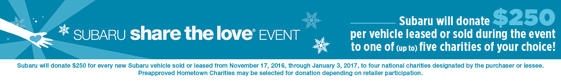 Support local charities and drive a dependable Subaru during the Share the Love Event in Salt Lake City, UT