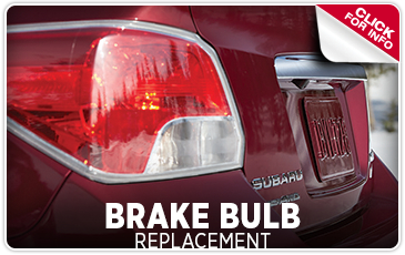 Subaru Brake Light Bulb Replacement Service and Maintenance Information