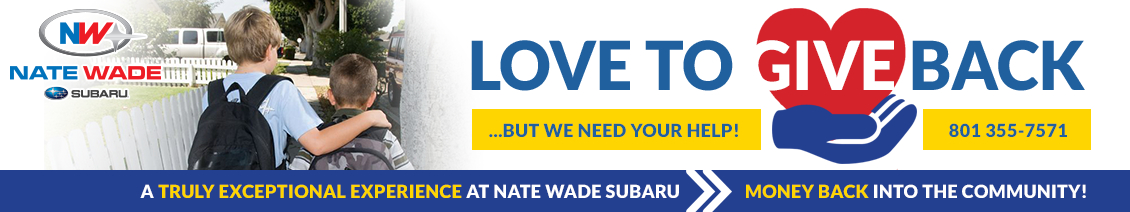 We Love to Give Back at Nate Wade Subaru in Salt Lake City, UT