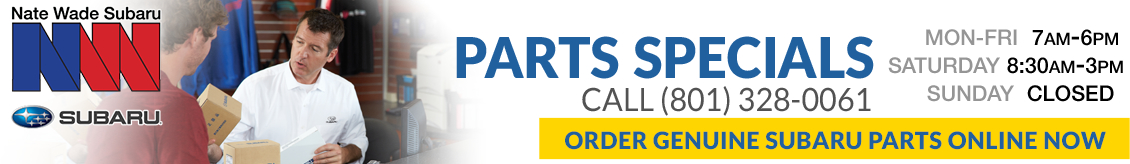 Visit the Nate Wade Subaru parts and accessories center for all your genuine Subaru parts needs in Salt Lake City, UT