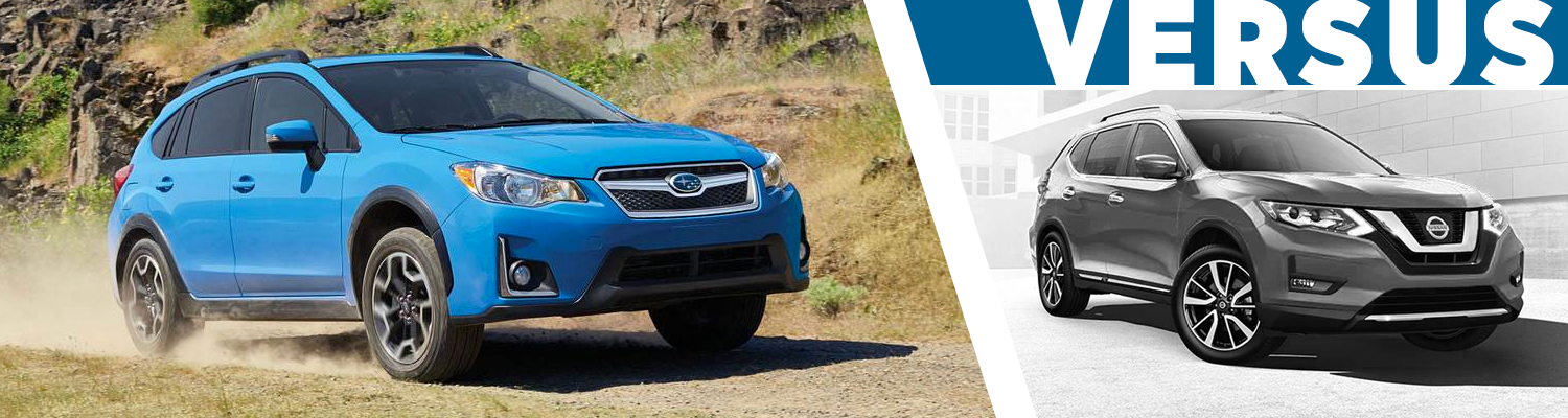 Compare the 2017 Subaru Crosstrek and 2017 Nissan Rogue models