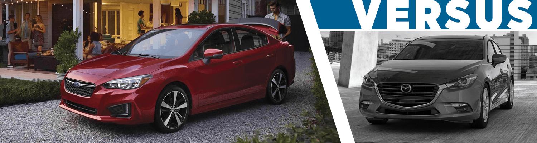 2018 subaru impreza vs 2018 mazda3 compact car comparison information salt lake city ut. Black Bedroom Furniture Sets. Home Design Ideas