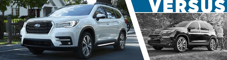 2019 subaru ascent vs 2018 honda pilot full size suv for Honda pilot competitors