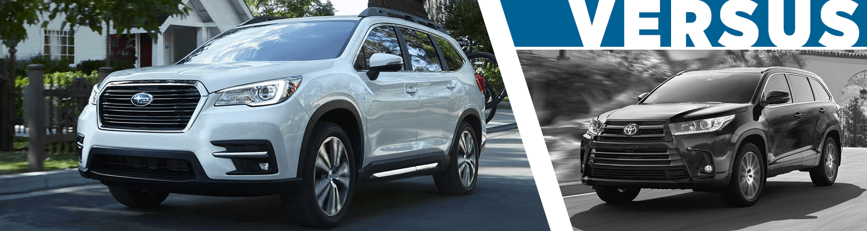 2019 Subaru Ascent Vs 2018 Toyota Highlander Model Comparison In Salt Lake  City, UT