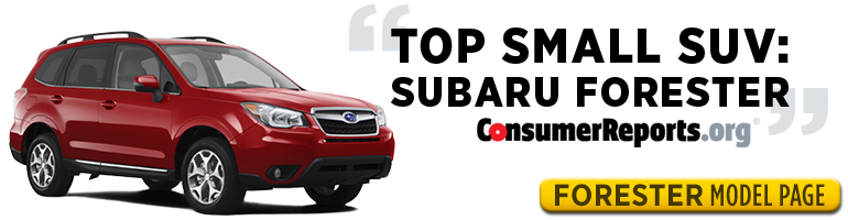 Subaru Forester is one of Consumer Reports' Top Picks for 2015 - test drive one in Salt Lake City, UT