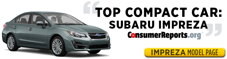 Subaru Impreza is one of Consumer Reports' Top Picks for 2015 - test drive one in Salt Lake City, UT