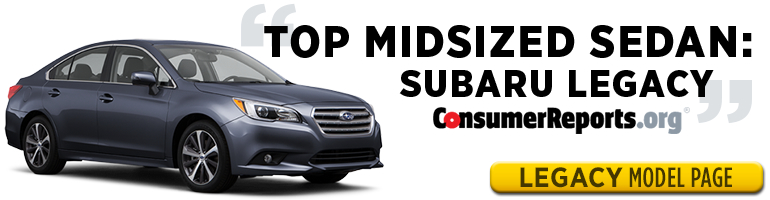 Subaru Legacy is one of Consumer Reports' Top Picks for 2015 - test drive one in Salt Lake City, UT