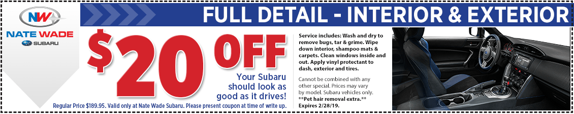 Save on full detail service for your Subaru in Salt Lake City, UT