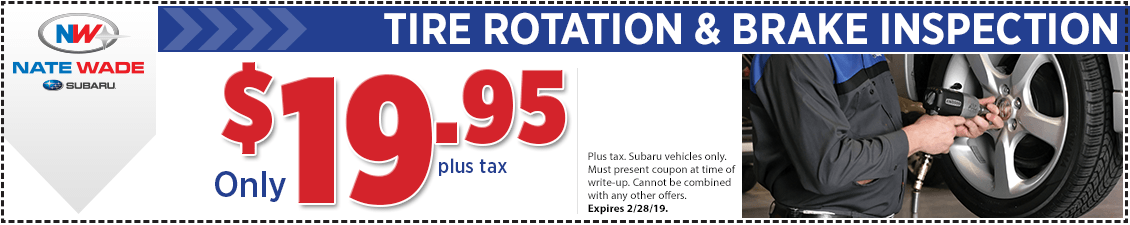 Subaru Tire Rotation & Brake Inspection Service Special in Salt Lake City, UT