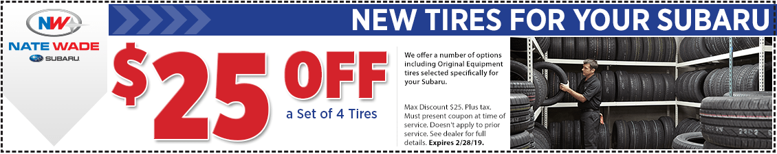 Click to Print This Subaru Tire Discount Savings Service Special in Salt Lake City, UT