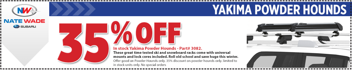 Yakima Powder Hounds Snowboard & Ski Roof Rack Parts Special in Salt Lake City, UT