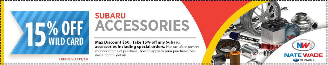 Save with this month's Genuine Subaru Accessories Parts Special in Salt Lake City, UT