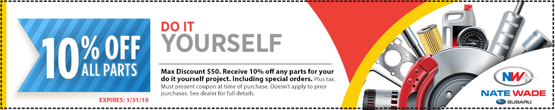 Do It Yourself and save with this month's DIY Parts Special in Salt Lake City, UT