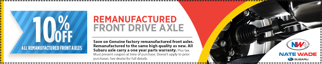 Save with this month's Genuine Subaru Remanufactured Front Drive Axle Parts Special in Salt Lake City, UT