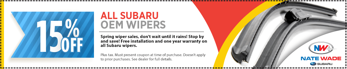 Save with this month's Genuine Subaru Windshield Wiper Blades Parts Special in Salt Lake City, UT