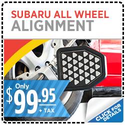 Click here to learn more about this Salt Lake City, UT Subaru all-wheel alignment service discount special offer