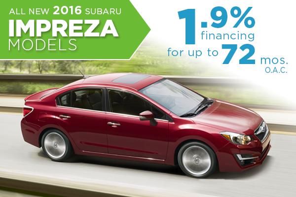 All New 2016 Subaru Impreza 1.9% Finance Offer serving Taylorsville, UT