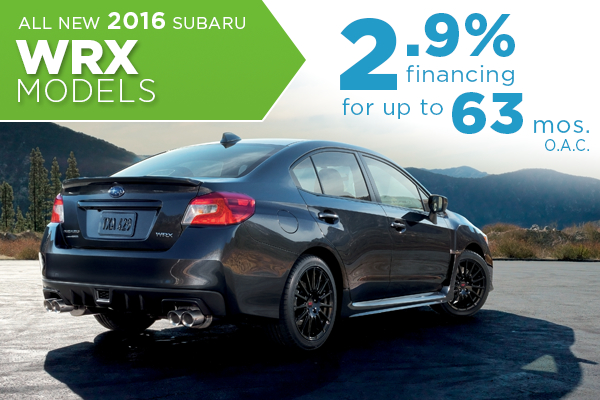 All New 2016 Subaru WRX 2.9% Finance Offer serving Taylorsville & Salt Lake City, UT