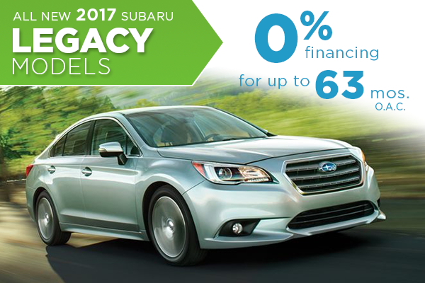 New 2017 Subaru Legacy Models at 0% APR in Salt Lake City, UT