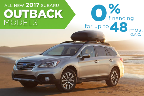 Right now you can save save on this 2017 Subaru Outback with this special finance offer at Nate Wade Subaru in Salt Lake City, UT. Click to view vehicles in inventory.