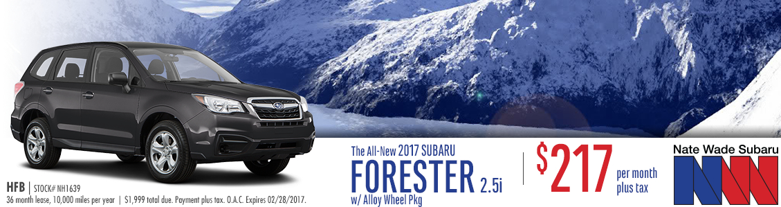 2017 Subaru Forester 2.5i Lease Special in Salt Lake City, UT