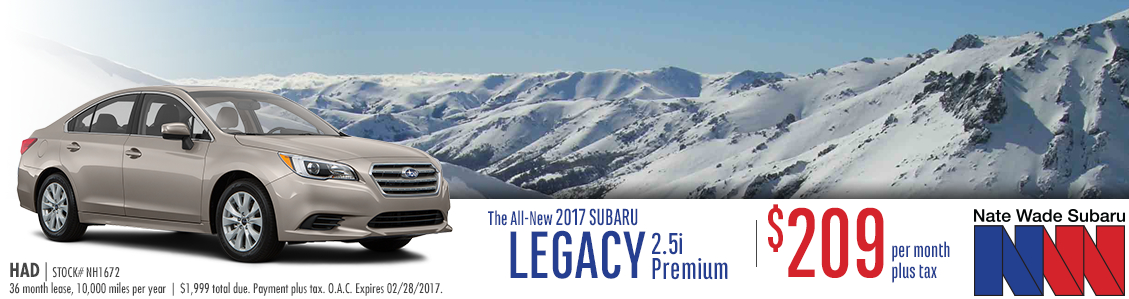2017 Legacy 2.5i Premium Low Payment Lease Special in Salt Lake City, UT