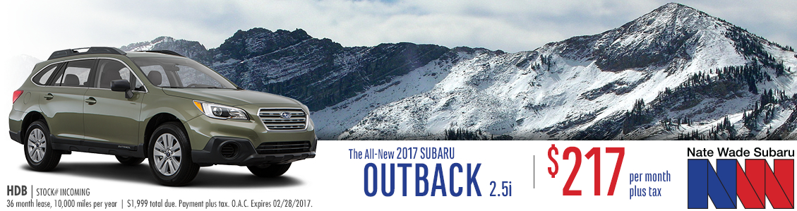 2017 Subaru Outback 2.5i Lease Special in Salt Lake City, UT