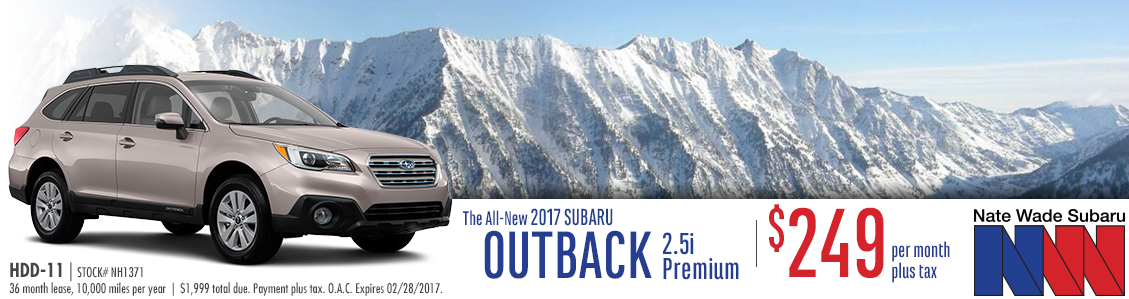 2017 Subaru Outback 2.5i Premium Low Payment Lease Special in Salt Lake City, UT