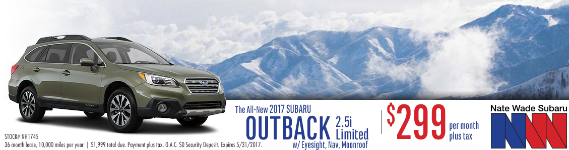 2017 Subaru Outback 2.5i Limited Low Payment Lease Special in Salt Lake City, UT