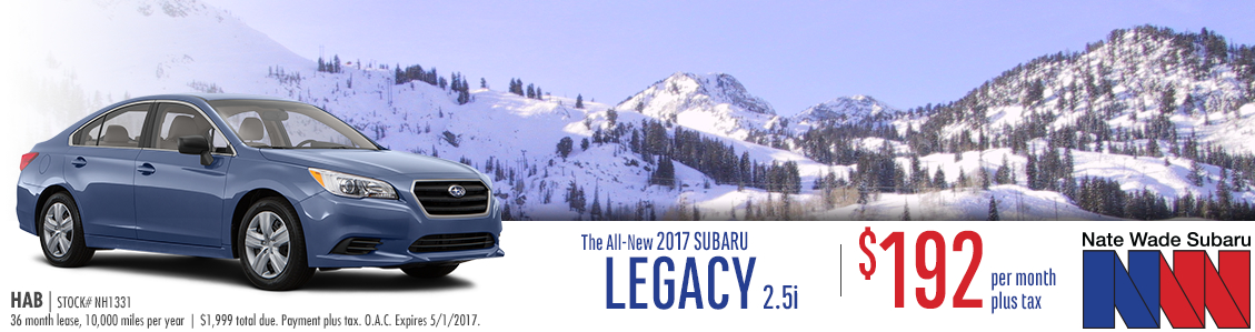 2017 Subaru Legacy 2.5i Lease Special in Salt Lake City, UT