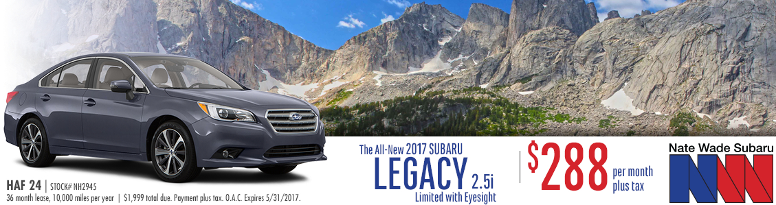 2017 Subaru Legacy 2.5i Limited with Eyesight Lease Special in Salt Lake City, UT