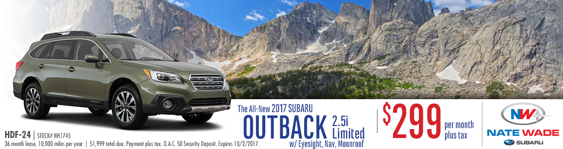 2017 Subaru Outback Limited Low Payment Lease Special in Salt Lake City, UT