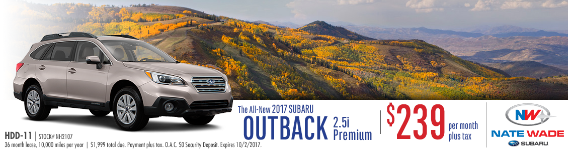2017 Subaru Outback 2.5i Premium Lease Special in Salt Lake City, UT