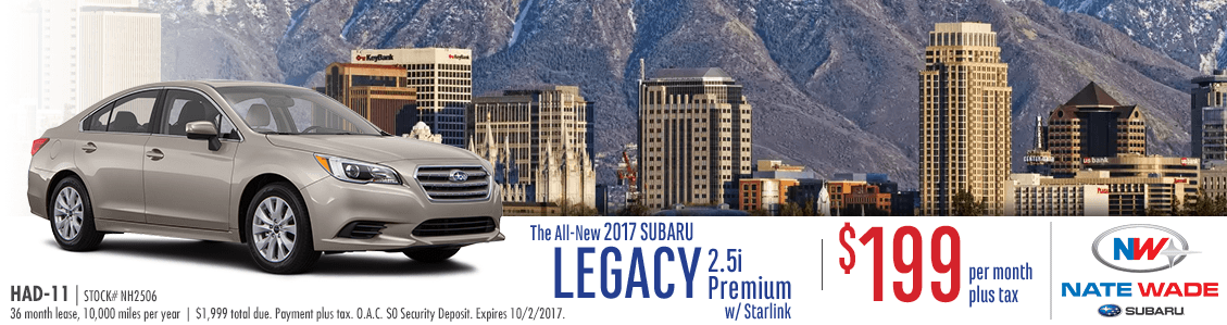 2017 Legacy 2.5i Premium w/ Starlink Lease Special in Salt Lake City, UT