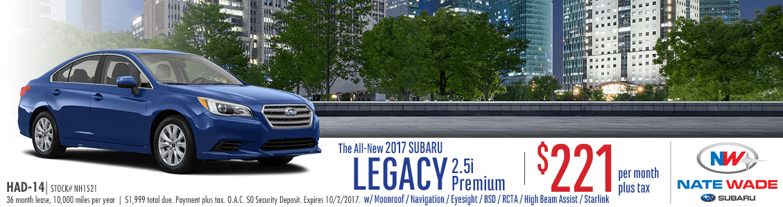 2017 Legacy 2.5i Premium Low Payment Lease Special serving South Jordan, UT