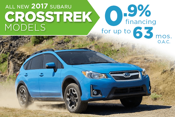 New 2017 Subaru Crosstrek Finance Special serving Salt Lake City, Utah