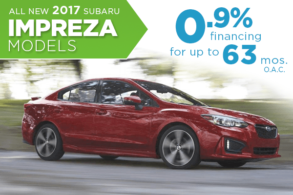 New 2017 Subaru Impreza Model Finance Special serving Salt Lake City, Utah