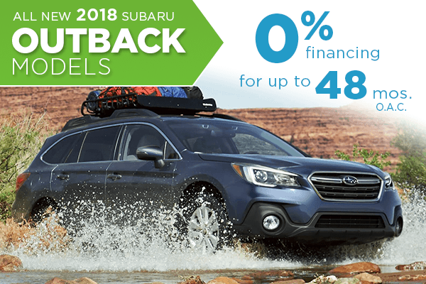 All New 2018 Subaru Outback 0% Finance Offer serving Taylorsville & Salt Lake City, UT