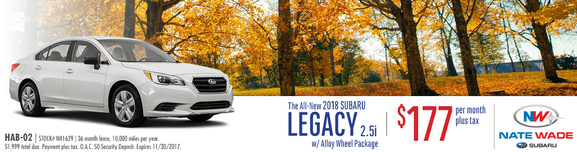 2017 Subaru Legacy 2.5i w/ Alloy Wheel Package Lease Special in Salt Lake City, UT