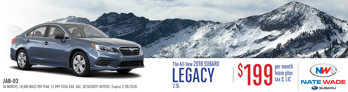 2018 Subaru Legacy 2.5i Low Payment Lease Special in Salt Lake City, UT