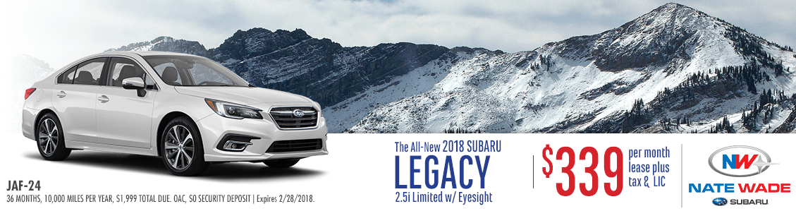 2018 Subaru Legacy 2.5i Limited w/Eyesight Low Payment Lease Special in Salt Lake City, UT