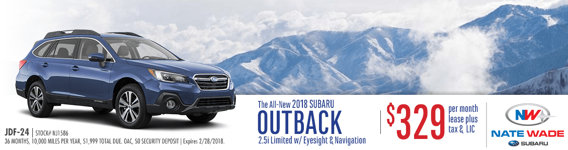 2018 Outback 2.5i Limited with Eyesight & Navigation Lease Special in Salt Lake City, UT