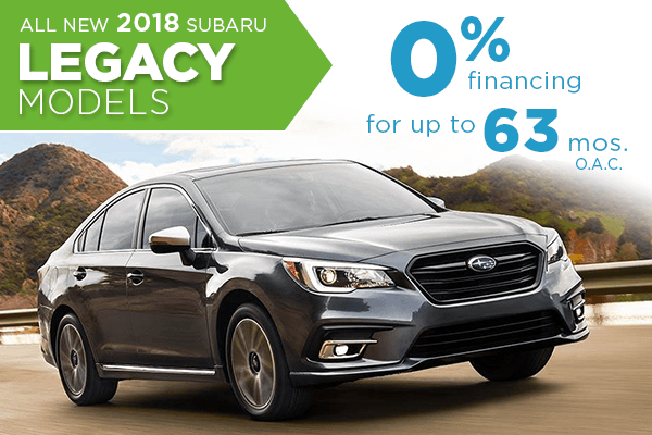 All New 2018 Subaru Legacy 0% Finance Offer serving Taylorsville & Salt Lake City, UT