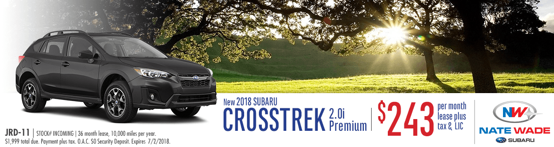 2018 Subaru Crosstrek Premium Lease Special in Salt Lake City, UT