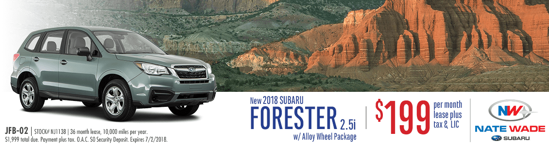 2018 Subaru Forester 2.5i Lease Special in Salt Lake City, UT