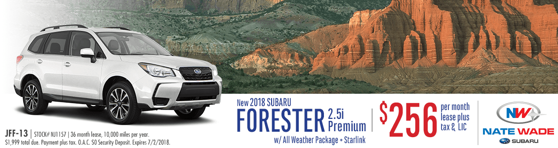 Lease a 2018 Subaru Forester for a Low Monthly Payment in Salt Lake City, UT