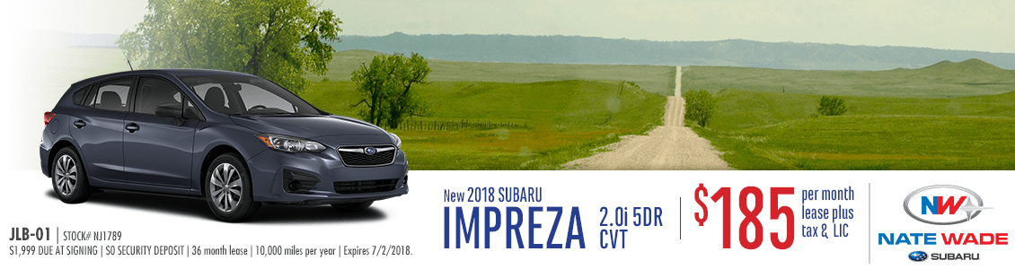 2018 Subaru Impreza 2.0i 5-Dr CVT Lease Special in Salt Lake City, UT