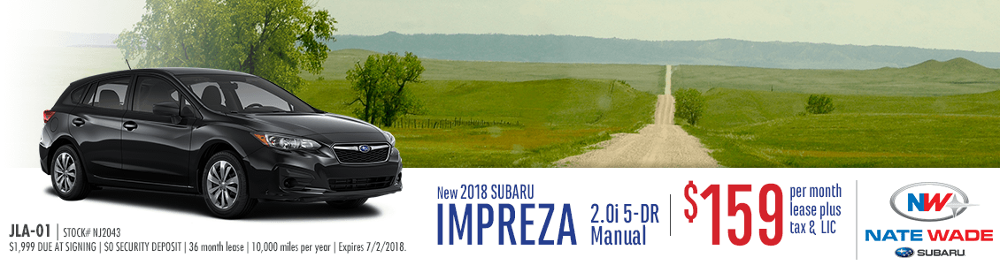 2018 Subaru Impreza 2.0i 5-Dr Manual Low Payment Lease Special in Salt Lake City, UT