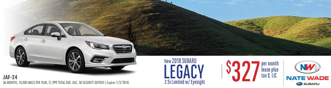 2018 Subaru Legacy 2.5i Limited w/ Eyesight Low Payment Lease Special in Salt Lake City, UT
